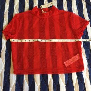Red mesh crop top! Medium. Cotton:on brand